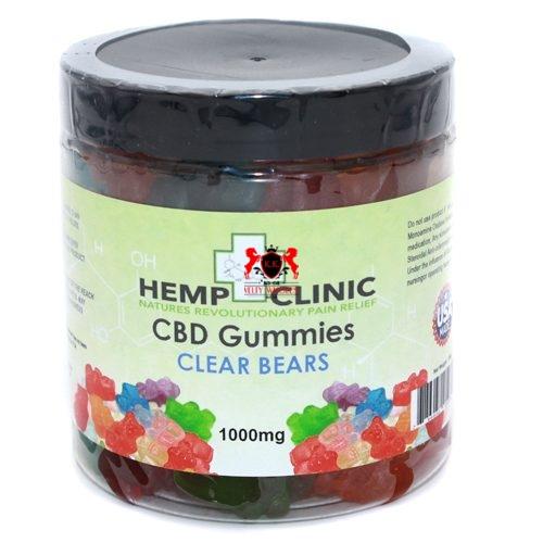 Hemp clinic CBD Gummies - Clear Bears 1000mg