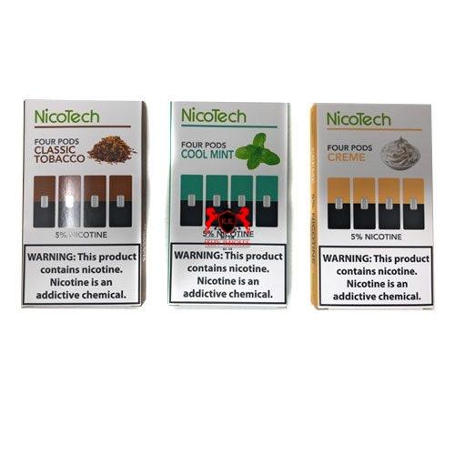nicotech-cool-mint-classic-tobacco-creme--four-pods-juul-compatible-1